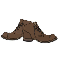 old lacing shoes vector image