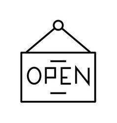 Open line icon concept sign outline vector