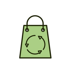 paper shopping bag recycle environment ecology vector image