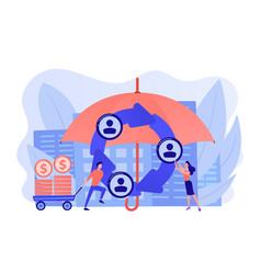 Peer-to-peer insurance concept vector