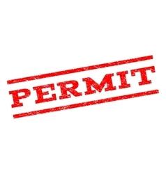Permit Watermark Stamp vector