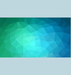 Polygonal background blue green vector