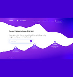 purple wavy background for landing page template vector image