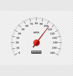 Realistic speedometer car odometer speed counter vector