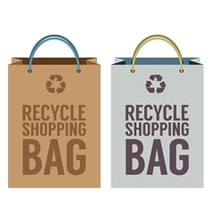 Recycle Paper Bag vector image