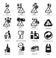 Recycles icon set simple style vector