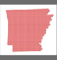 red dot map of arkansas vector image