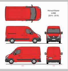 Renault master cargo delivery van l1h2 2014-2019 vector