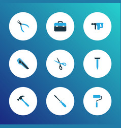 repair icons colored set with electric instrument vector image