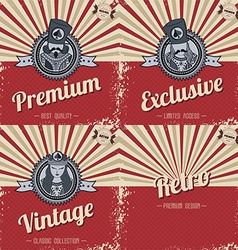 Retro page theme template vector