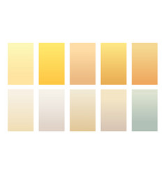 Set gradient backgrounds sand color palette vector