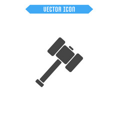sledgehammer icon flat hammer icon vector image