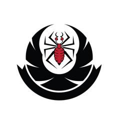 Spider logo design vector