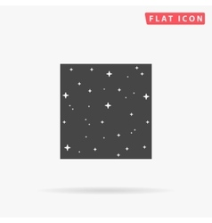 Starry night simple flat icon vector