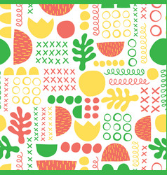 summer abstract seamless pattern green vector image