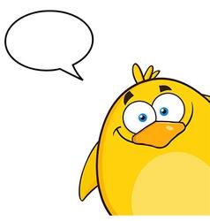 Talking Peeking Baby Chick Cartoon vector image