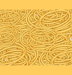 tangled spaghetti seamless waves hand drawn vector image