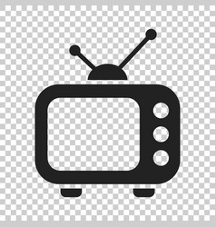 television monitor in flat style tv screen on vector image