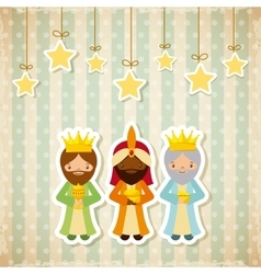three wise men design vector image