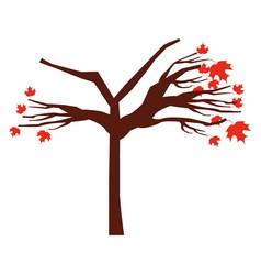 Tree dry isolated icon vector