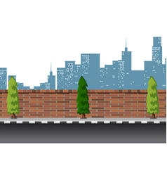 Urban street road scene vector