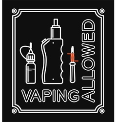 Vape banner with text Vaping allowed vector image
