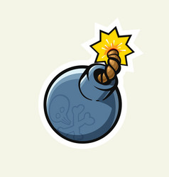 Vintage bomb with cord vector