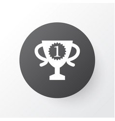 winner cup icon symbol premium quality isolated vector image