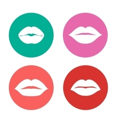 Woman lips icons set vector image