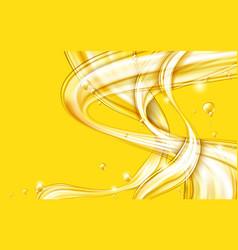 yellow golden flowing liquid abstract vector image