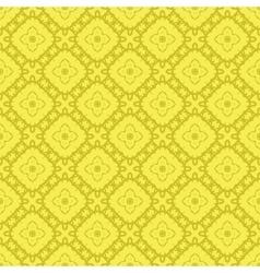 Yellow ornamental seamless line pattern vector