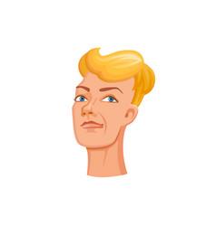 young man head vector image