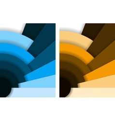 Abstract fan background vector image vector image