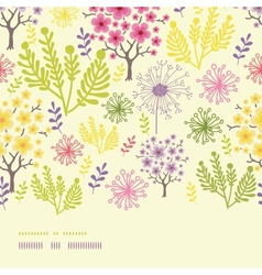 Blossoming trees horizontal border seamless vector image vector image