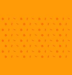 halloween on orange background style vector image vector image