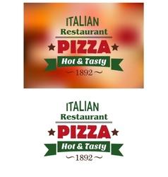 Italian pizza restaurant emblems or labels vector image