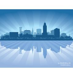 Lincoln Nebraska city skyline silhouette vector image