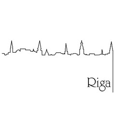 riga city one line drawing background vector image vector image