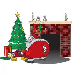 Santa rips pants vector image