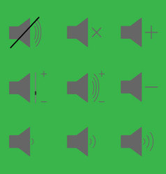 Set sound icons vector image vector image