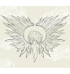 Cartoon Angel vector image vector image