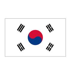 flag of republic korea vector image vector image
