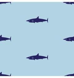 blue sea shark fish seamless pattern eps10 vector image vector image