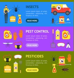 cartoon pest control service business banner vector image