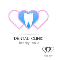 dental clinic logo vector image