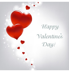 Valentines Day Card With Hearts vector image