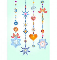 wind chimes vector image vector image