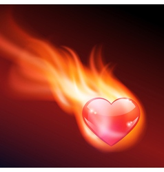 Abstract background with burning heart vector image