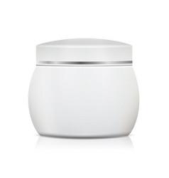 cream jar blank realistic packaging mock vector image