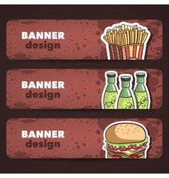 Fast Food Banners vector image